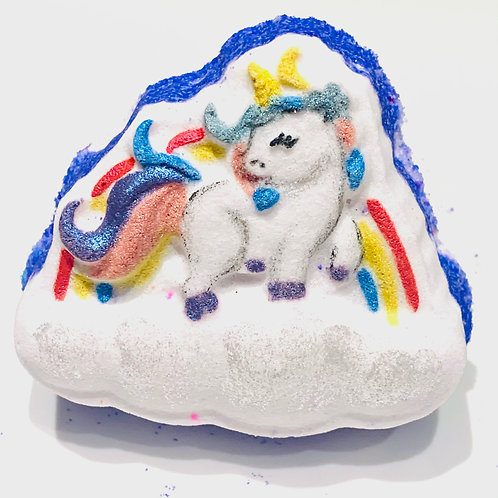 Rainbow Unicorn on cloud wholesale Bath Bomb; Kid