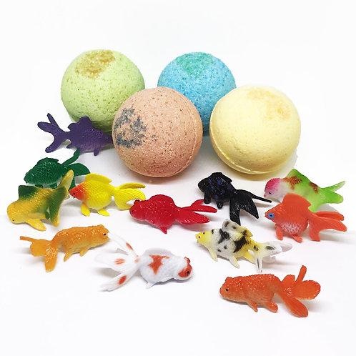 Goldfishes TOY Bath Bomb! 3 oz BOMB Surprise!
