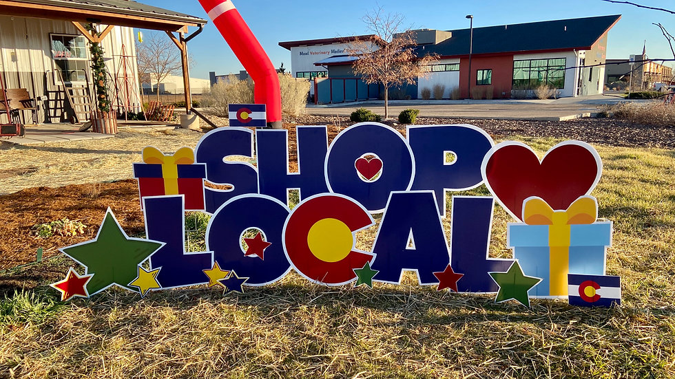 Shop Local Business Display