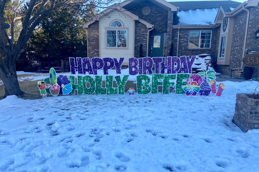 "HBD ""Holly BFFE"""