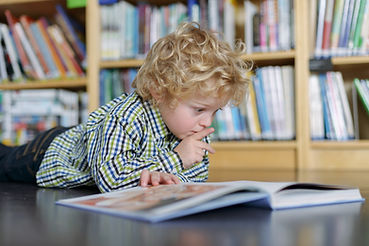 Blonde Boy Reading