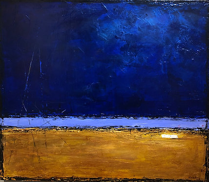 colorful contemporary abstract representational landscape painting