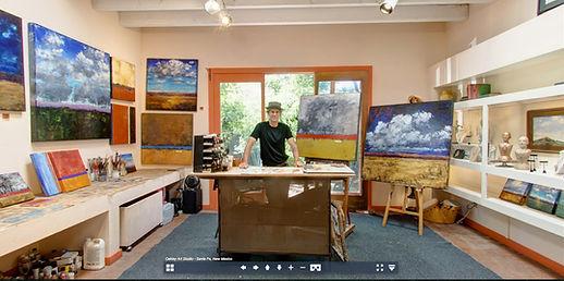 Virtual Reality tour of Abstract Artist Gary Oakley's studio