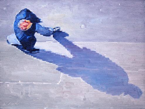 Man Casting a Shadow in Paris