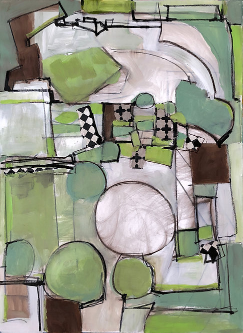 contemporary expressive abstract painting by Santa Fe artist Norma Alonzo