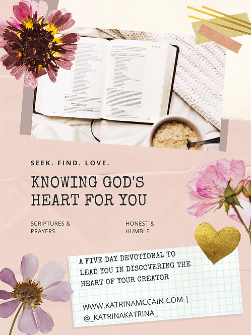 Knowing God's Heart for You: A Five Day Devotional
