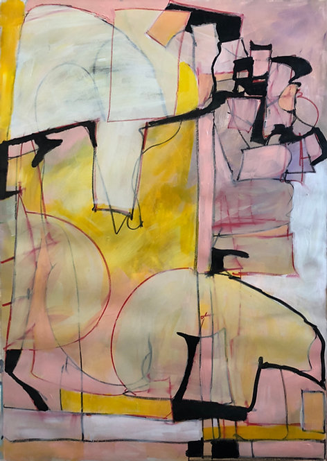 contemporary abstract landscape painting by Santa Fe artist Norma Alonzo