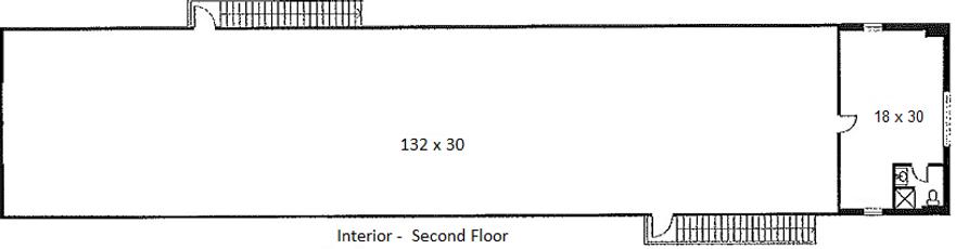 Building 1 2nd Floor Interior Floorplan.