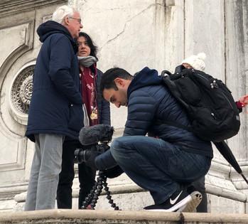 Rodney Habib filming in Italy