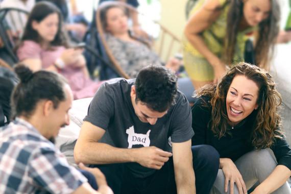 Rodney Habib and Dr. Karen Becker laughing