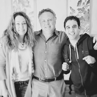 Dr. Karen Becker, Steve Marsden and Rodney Habib behind the scenes
