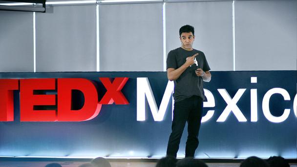 Rodney Habib speaking at TEDx Mexico City