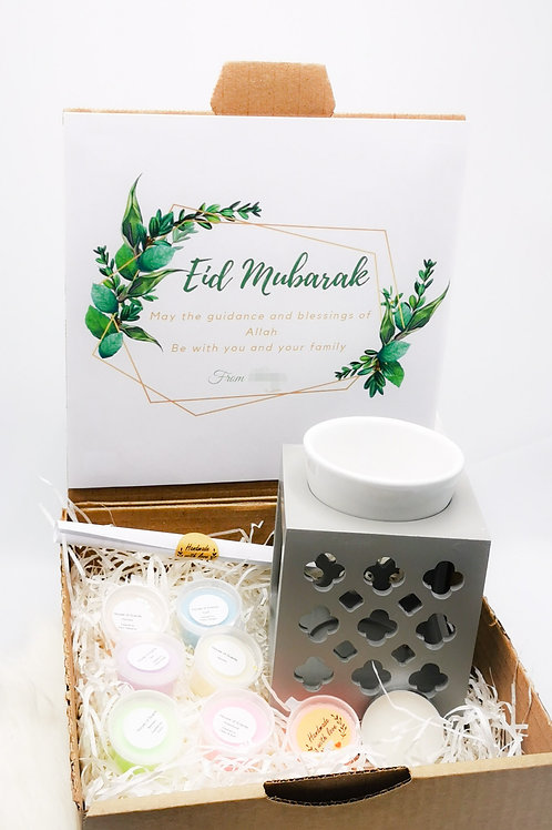 Eid gift with your personalized message,maroc burner and 6 waxmelts
