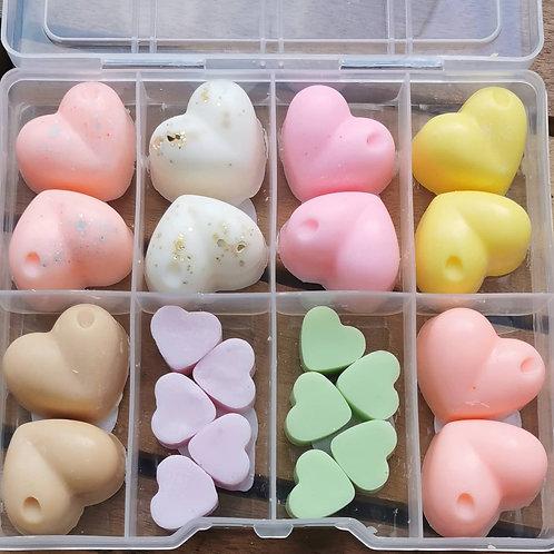 Wax hearts box