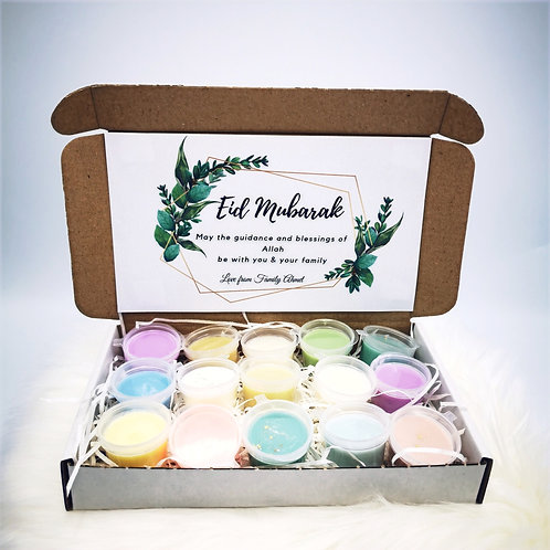 Eid Gift: Personalized message with 15 waxmelts