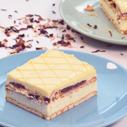Торта Бял шоколад с малини (4 порции)