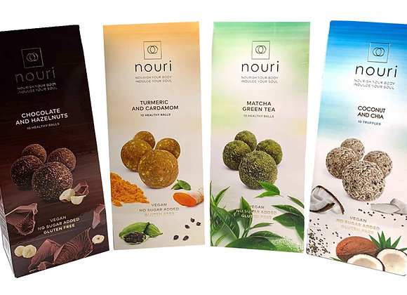 Selection pack 8 boxes of 10 truffles (2 boxes per flavour)