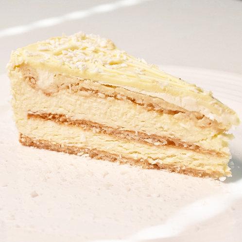 Торта Бял шоколад и кокос - БЕЗ ГЛУТЕН (4 парчета)