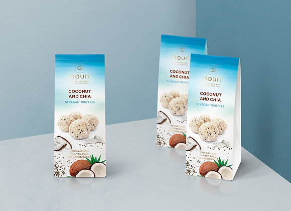 Coconut & Chia (box of 10 truffles) x 8 boxes