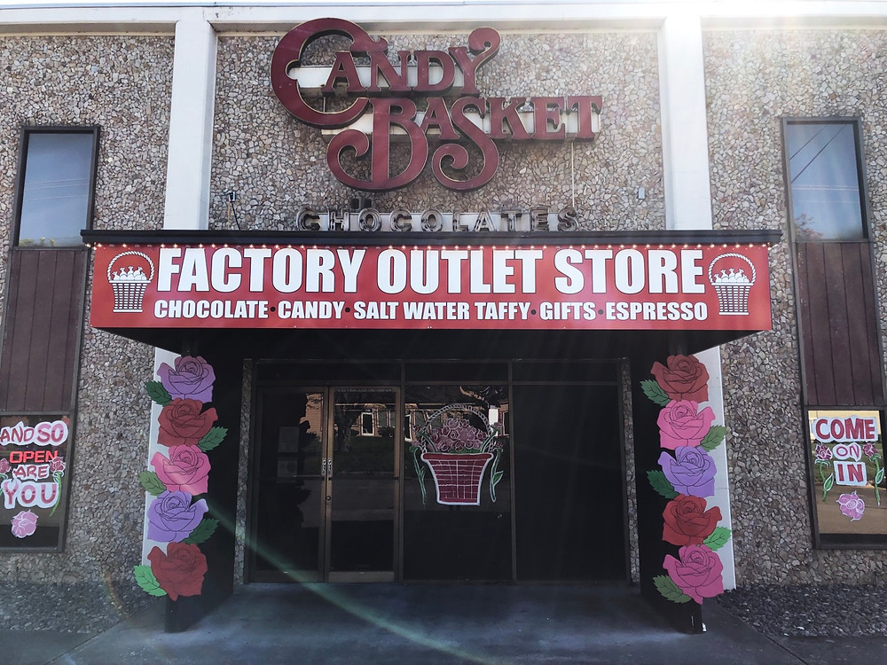 The Candy Basket Factory Outlet Storefront
