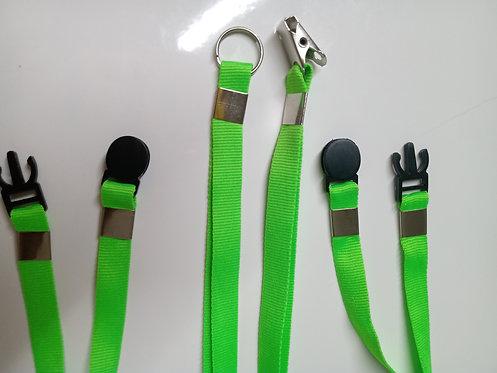 Cordão Para Crachá 12mm | Jacaré + Trava de Segurança | 100 unidades