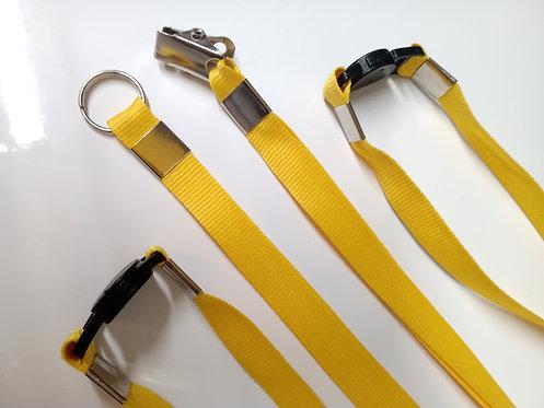 Cordão Para Crachá 12mm | Jacaré + Trava de Segurança | 1000 unidades