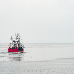 fishing boat going out to sea