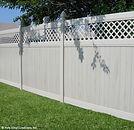 Vinyl Fence with Lattice