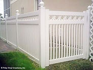 Vinyl Picket Fence with Rings