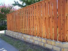 Slotted Wood Fence