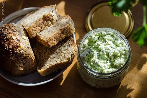 Творожный сыр с зеленью (козий)