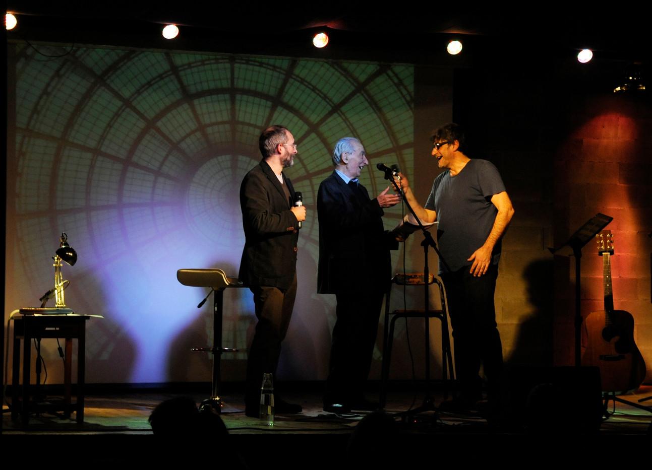 Franco Loi e Gino Cervi con Claudio Sanfilippo