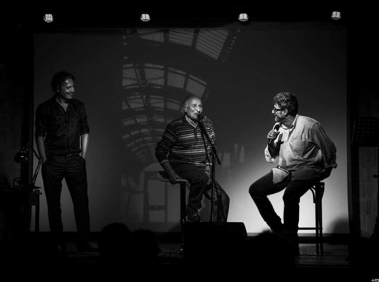 Don Gino Rigoldi con Folco e Claudio