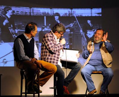 Gianni Mura e Marco Pastonesi con Claudio Sanfilippo