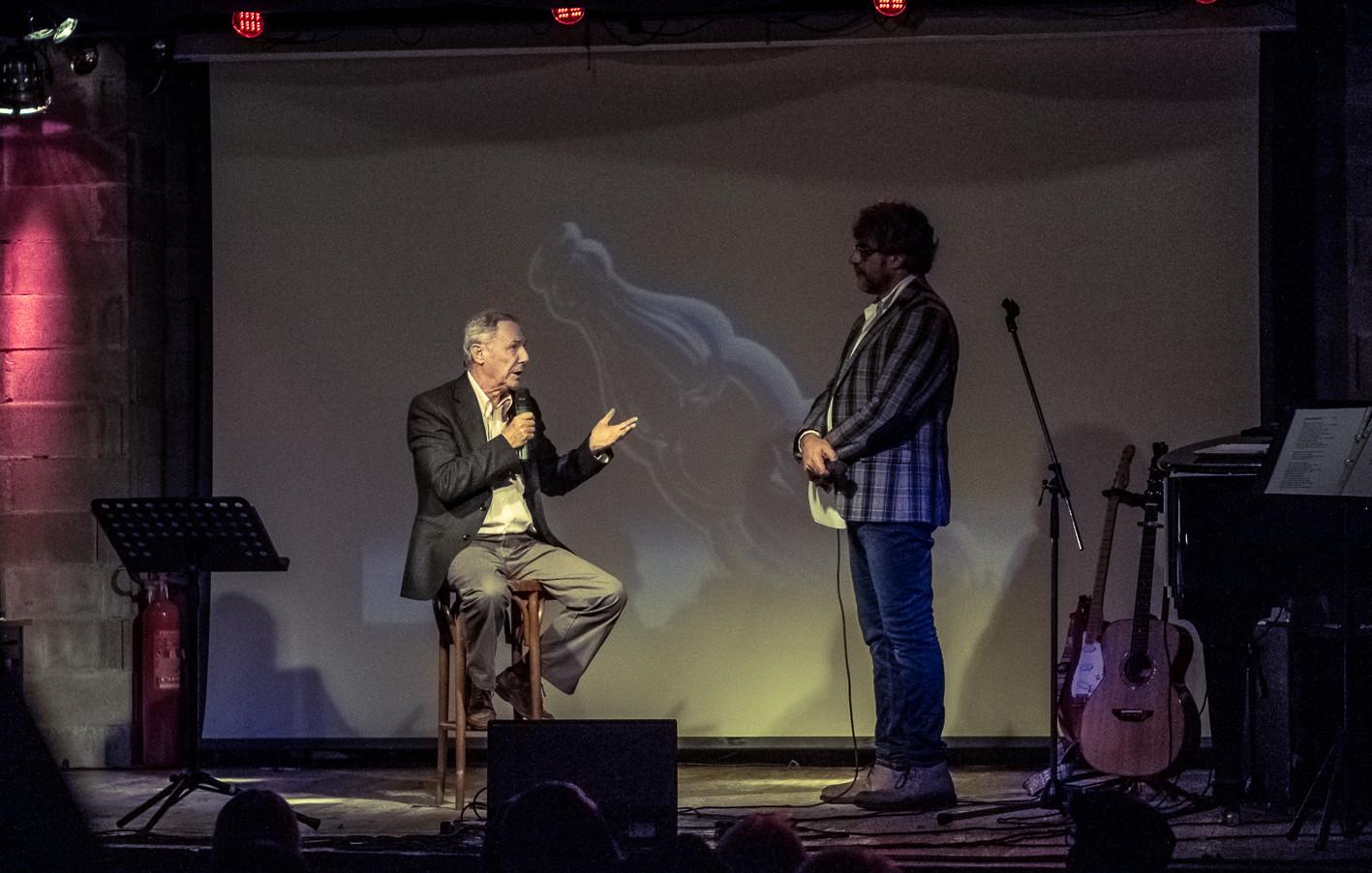 Bruno Bozzetto con Claudio Sanfilippo