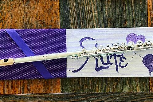 Flute Mat, purple drawings