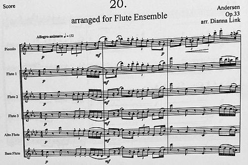 Flute Choir/ Quartet - Andersen Etude Op. 33, #20
