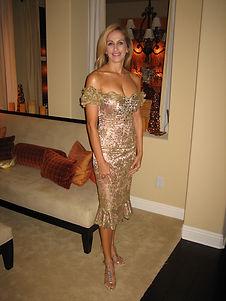 Nanette gold dress, 2007, Billy  McNeal.