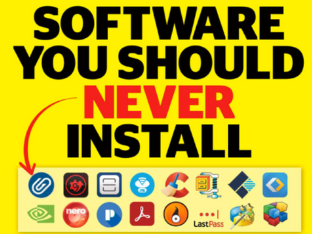 Software you should never install!!