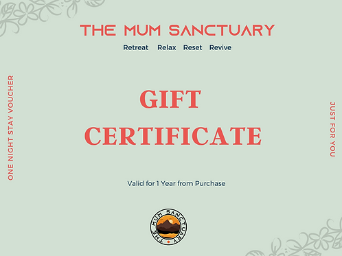 Retreat Gift Certificate For Mums