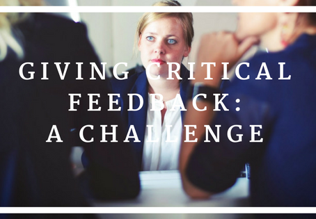 Giving Critical Feedback: A Challenge