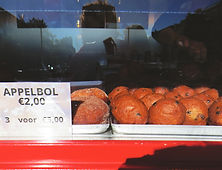Oliebol stall on Kinkerstraat