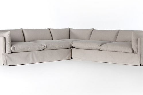 3pc Slipcovered Sectional