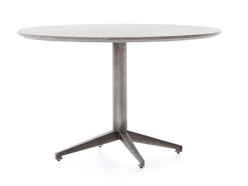 "47"" Round Concrete Dining Table"