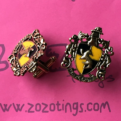 Harry Potter House Hufflepuff Metal Cufflinks