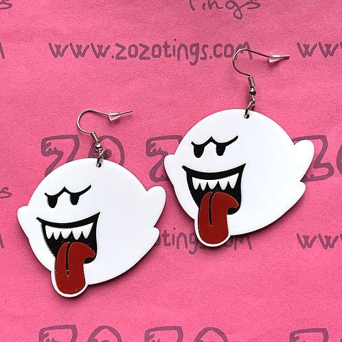 Mario 'Boo' Ghost Earrings