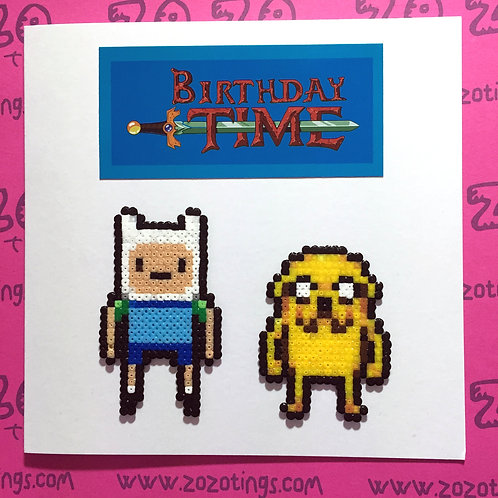 Adventure Time Finn & Jake Birthday Card