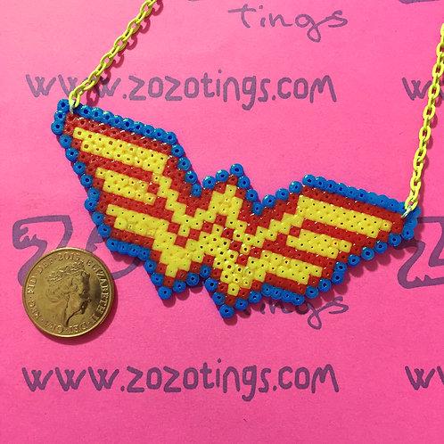 Wonder Woman Pixel Necklace