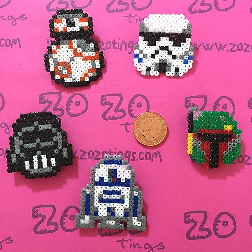 Star Wars Pixel Badges
