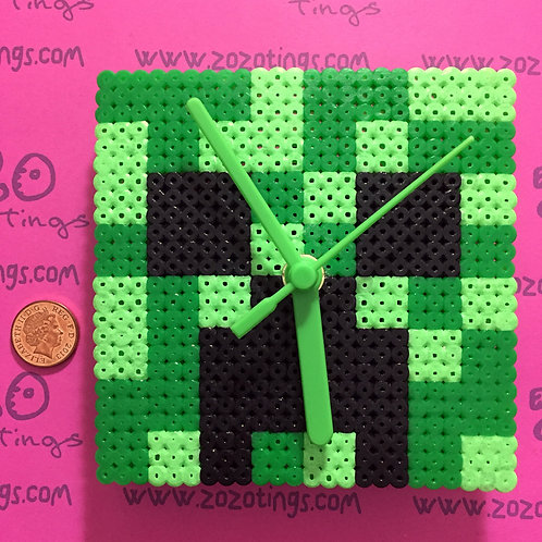 Minecraft Creeper Pixel Clock